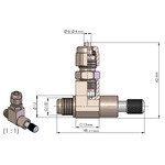 Zaworek precyzyjny ROTALA PRO-Line Precision-Valve 2 CV - 2 wyjścia z zaworkiem