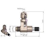 Zaworek precyzyjny ROTALA PRO-Line Precision-Valve 3 CV - 3 wyjścia z zaworkiem