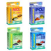 Zestaw 4 testów ZOOLEK do akwarium roślinnego (NO3+PO4+GH/KH+PH) - podstawowy
