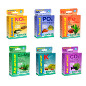 Zestaw 6 testów ZOOLEK do akwarium roślinnego (NO3+PO4+K+Ca+Mg+Fe+CO2) - oznaczanie niedoborów