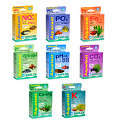 Zestaw 8 testów ZOOLEK do akwarium roślinnego (NO3+PO4+GH/KH+PH+K+Fe+CO2) - zaawansowany