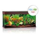 Zestaw akwariowy JUWEL Rio 180 (LED SPECTRUM) - ciemne drewno
