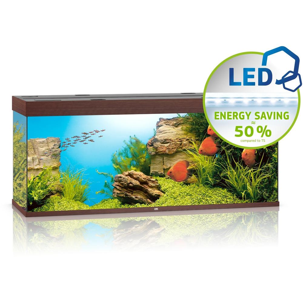 Zestaw akwariowy JUWEL Rio 450 (LED) - ciemne drewno.