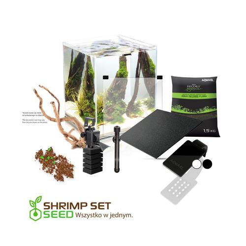 Zestaw Aquael Shrimp Set 2 [30l] SEED (z akcesoriami) - biały