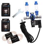 Zestaw CO2 BLUE TWIN Profesional [bez butli] - z elektrozaworem, na 2 akwaria