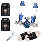 Zestaw CO2 BLUE TWIN Standard [bez butli] - bez elektrozaworu, na 2 akwaria