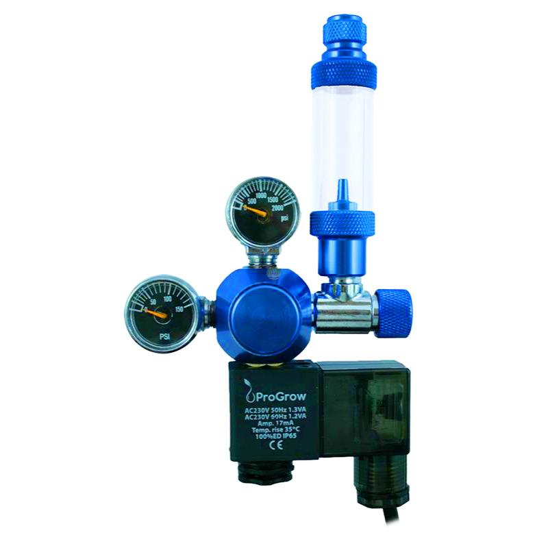 Zestaw CO2 PROGROW PR1 (bez butli) - z elektrozaworem