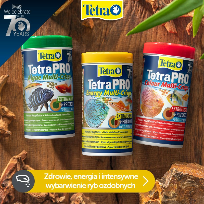 Zestaw pokarmów Tetra: Algae + Energy + Clour Multi Crips (3x250ml)