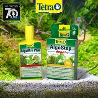 Zestaw preparatów Tetra zwalczających glony: AlguMin Plus + AlgoStop Depot