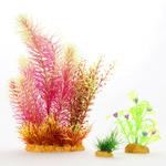 Zestaw sztucznych roślin Yusee - czerwona i liściaste