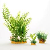 Zestaw sztucznych roślin Yusee - liściaste i trawnik