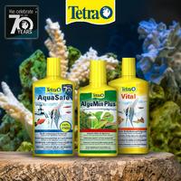Zestaw Tetra do cotygodniowej pielęgnacji: AquaSafe + AlguMin Plus + Vital [3x250ml]