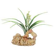 ZOLUX Dekoracja skała z rośliną T1