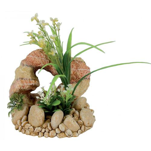 Zolux Dekoracja skała z rośliną T2
