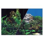 Zolux Tło akwariowe dwustronne 40 x 60 cm rośliny czar./rośliny nieb.