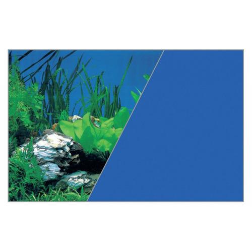 Zolux Tło akwariowe dwustronne 50 x 80 cm rośliny skała/niebieskie