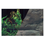 Zolux Tło akwariowe dwustronne 60 x 120 cm rośliny czar./skała